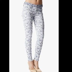 7 For All Mankind Floral Jacquard Skinny Jeans